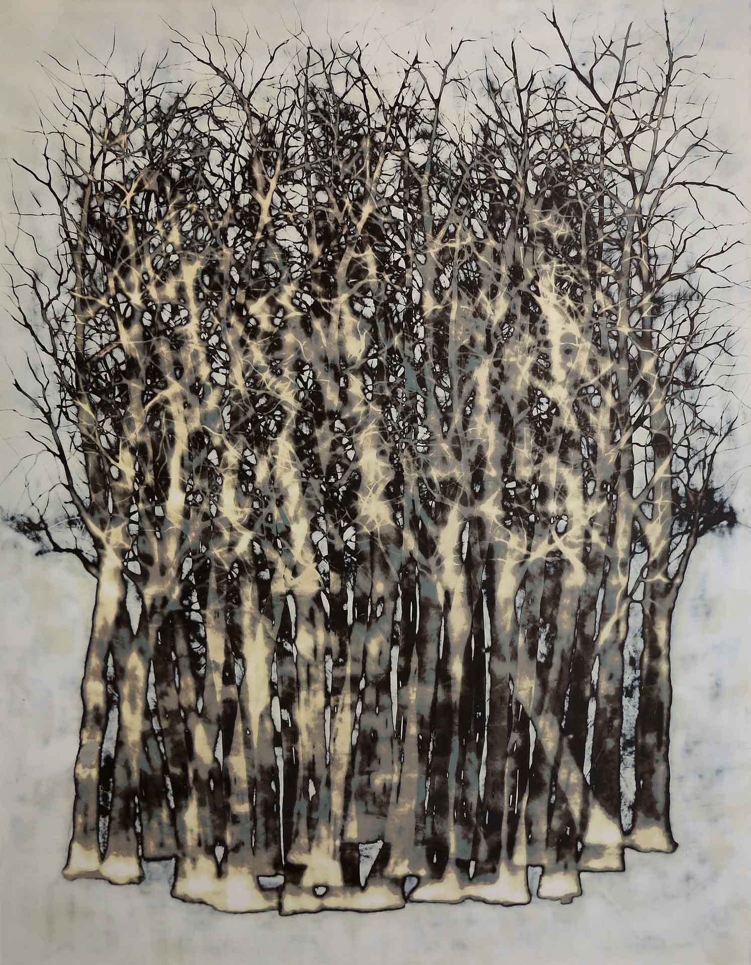 Tuval üzeri akrilik – Acrylic on canvas 110*140 cm